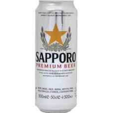Пиво Саппоро Премиум светлое 0,5 л. х 24 БАНКА 4,7 %/ SAPPORO/