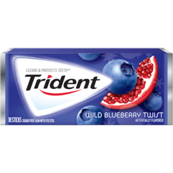 Жев. резинка Trident Wild Blueberry Twist 1 x 12 шт. (блок) / США