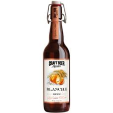 Пиво Craft Beer Master Blanche (Крафт Бир Мастер Бланш) светлое нефильтрованное 0.5л. ст.бут. алк. 4.5%