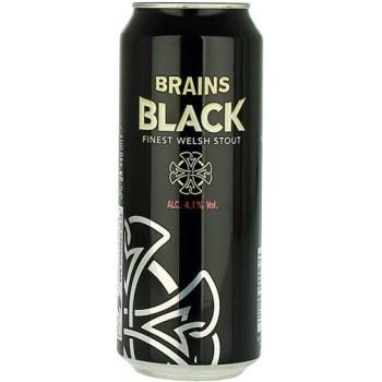 Пиво Брэйнс Блэк 0,44 x 24 БАНКА. 4,1% / Brains Black