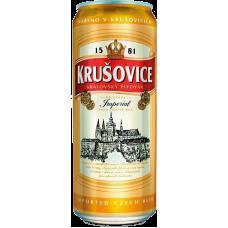 Пиво Крушовице Империал светлое 5% 0,5 x 24 ж/банка/Krusovice Imperial
