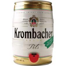 Пиво Кромбахер Пильс светлое 4,8% 5л. (БОЧКА) / Krombacher Pils, Германия.
