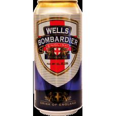 Пивной напиток Бомбардьер алк. 4,3 % 0,5 x 24 БАНКА/Bombardier