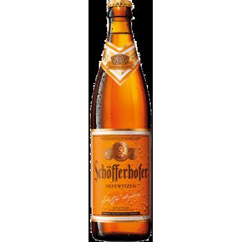 Пиво Шоферхофер Хефевайзен нефильтр. 0,5 x 18 бут. алк. 5,0 % /Schofferhofer Hefeweizen/Германия