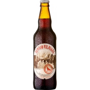 Пиво темное фильтрованное пастеризованное Vilniaus Senojo tamsusissu prieskoniais (Старый Вильнюс темное)/ алк. 7.5% 0,5 x 8 cт. бут /Литва