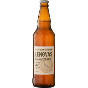 Пиво светлое фильтрованное пастеризованное Vasaros alus  (Вильнюс Легкое летнее )/ алк. 4.8%  0,5 x 8 cт. бут /Литва