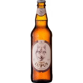 Пиво светлое пастеризованное фильтрованное Canis Lupus (Вильнюс Серый Волчонок)/ алк. 4,6% 0,5 x 8 cт. бут /Литва