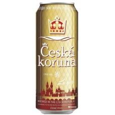 Пиво светлое фильтрованное пастеризованное ЧЕШСКА КОРУНА ЛАГЕР 0,5x12 ж/б. 4,7% / Чехия