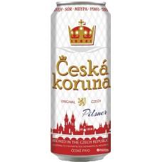 Пиво светлое фильтрованное пастеризованное ЧЕШСКА КОРУНА ПИЛСНЕР 0,5x12 ж/б. 4,1% / Чехия