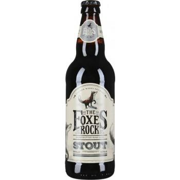 Пиво Фоксес Рок Стаут темное паст фильтр 4,5 % ст.бут 0,5 x 12 / The Foxes Rock Stout