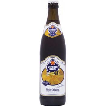 Пиво Schneider Weisse TAP 7 Mein Original (Шнайдер Вайс ТАП 7 Майне Оригинал) тёмное непастер нефильтр 0,5x20 бут.