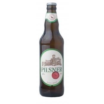 Пиво светлое пастеризованное фильтрованное Vilniaus PILSNER (Вильнюс ПИЛЬСНЕР)/ алк. 4,7% 0,5 x 8 cт. бут /Литва