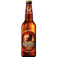 Пиво светлое фильтрованное пастеризованное Козел Премиум Лагер 4,6% 0,5x20 ст. бут./Velkopopovicky Kozel Premium