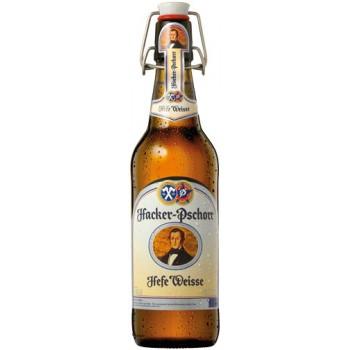 Пиво светлое нефильтрованное пастеризованное Хакер Пшор Вайсбир 0,5x18 бут. алк. 5,5 % / Hacker-Pshorr Weissbier