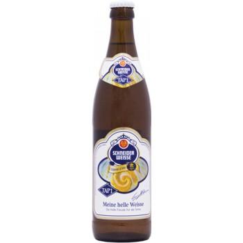 Пиво Schneider Weisse TAP 01 Mein Helle Weisse (Шнайдер Вайс ТАП 01 Майне Хелле Вайсс) светлое непастер нефильтр 0,5x20 бут.