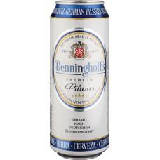 Пиво светлое пшеничное фильтрованное Деннингхоффс Пилснер 4,9% 0,5х24 БАНКА