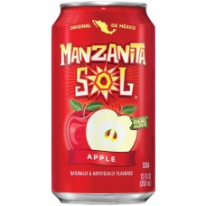 Напиток б/алк MANZANITA SOL APPLE (Солнечное яблоко) 0,355 х 12 ж/б, (США)