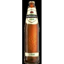 Пиво Коронет свет.паст 4,6 %  0,568 л. x 20 ст.бут, Лидское пиво