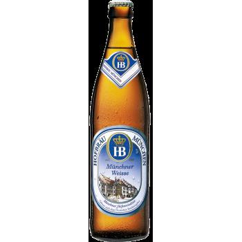 Пиво Хофброй Мюнхен Вайссе светлое нефильтр.алк. 5,1 % 0,5x20 бут./ Hofbrau Munchen Weisse
