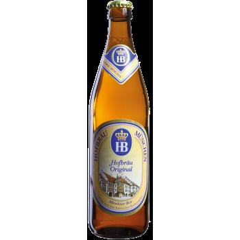 Пиво Хофброй Оригинал светлое алк. 5,1 % 0,5x20 бут. / Hofbrau Original