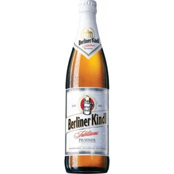 Пиво Берлинер Киндл Юбилеумс Пилснер светлое фильтров. пастериз. 0,5 л. х 20 ст.бут. 5,1 % / Berliner Kindl Jubilaums Pilsener