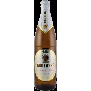 Пиво Гротверг Байриш Хель светлое 4,9%, 0,5 х 20 бут. / Германия