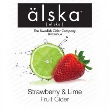 Сидр Alska Strawberry Lime (Альска клубника и лайм), КЕГ 30 л алк. 4.0%