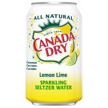Напиток б/алк CANADA DRY LEMON LIME (лимон лайм) 0,355 х 8 ж/б (США)