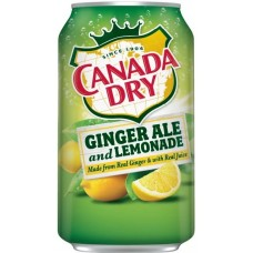 Напиток б/алк CANADA DRY GINGER-LEMON (Имбирь- Лимон) 0,355 х 12 ж/б, (США)