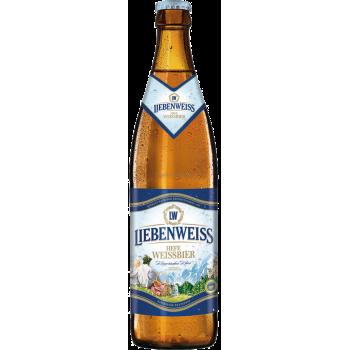 Пиво Либенвайс Хефе Вайссбир светлое н/ф 0,5 х 20 ст.бут.алк.5,1% / Liebenweiss Hefe Weissbier
