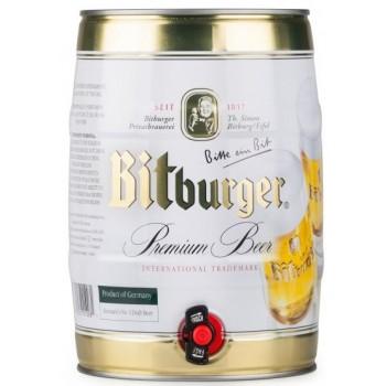 Пиво Битбургер /БОЧКА 5 л/ светлое 4,8 % Bitburger Германия.