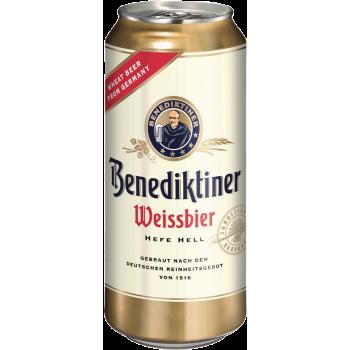 Пиво Бенедиктинер Вайсбир светлое н/ф алк.5,4 % 0,5 л. х 24 БАНКА/ Benidiktiner Weissbeer, Германия.