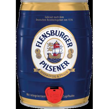Пиво Фленсбургер Пилснер светлое 4,8 % 5 л. (БОЧКА) / Flensburger Pilsener