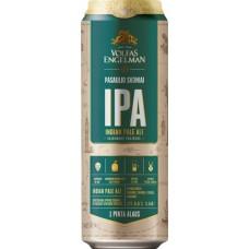 Пиво VOLFAS ENGELMAN IPA (ВОЛЬФАС ЭНГЕЛЬМАН ИПА) светлое нефильтрованное 0.568л ж/б