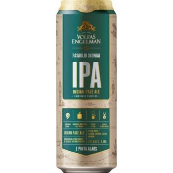 Пиво VOLFAS ENGELMAN IPA (ВОЛЬФАС ЭНГЕЛЬМАН ИПА) светлое фильтров. алк.6,5% 0,568 x 24 БАНКА /Литва