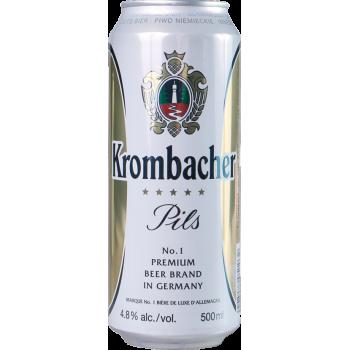 Пиво Кромбахер Пильс светлое (БАНКА) 4,8%, 0,5 x 24/ Krombacher Pils, Германия.
