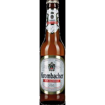 Пиво Кромбахер светлое б/алк. 0,33 x 24 бут. / Krombacher Pils, Германия.