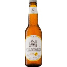 Пивной напиток фильтрованный пастеризованный Vilniaus nealkoholinis Melionu Skonio (Вильнюс безалкогольное со вкусом дыни) 0,33 x 8 cт. бут /Литваа
