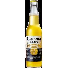Пивной напиток Корона Экстра 0,355 x 24 ст.бут 4,5%/Corona Extra, Мексика.
