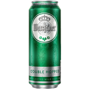 Пиво Варштайнер ДАБЛ ХОП светлое фильтр. пастер. 4,8% 0,5 л. х 24 БАНКА!!! / Warsteiner Double Hopped/ Германия.