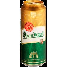 Пиво Пилснер Урквелл светлое 5,0% 0,5 x 24 (БАНКА) / Pilsner Urquell / Чехия