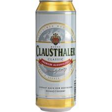 Пиво Клаусталер безалкогольное 0.5 x 24 (БАНКА) / Clausthaler