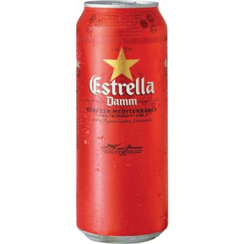 Пиво Эстрелла Дамм (БАНКА) светлое фильтр. 0,5 л. х 24 алк. 4.6% / Estrella Damm