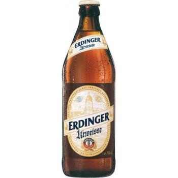 Пиво Эрдингер Урвайс светлое нефильтр. 0.5 x 12 ст.бут 4,9% /Erdinger Urweisse, Германия.