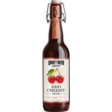Пиво Craft Beer Master Red Cherry (Крафт Бир Мастер Красная Вишня) темное нефильтрованное 0.5л. ст.бут. алк. 4.5%