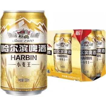 Пиво Харбин ПШЕНИЧНОЕ 3,6% 0,33 х 24 (БАНКА) / Китай