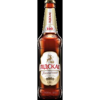 Пиво Лидское Пшеничное Светлое нефильтр 5.0 % 0,5 л. x 20 ст.бут, Лидское пиво