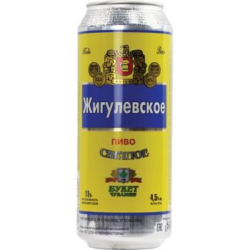 Пиво Жигулевское светлое фильтр. пастериз. 4,5 % 0,5 л. x 24 /БАНКА/
