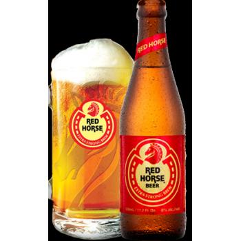 Пиво светлое фильтрованное RED HORSE 0,33x24 бут. 8.0%