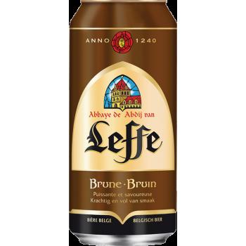 Пиво Леффе Брюне 0.5 л. х 24 БАНКА. алк.6,5% / Leffe Brune /Бельгия.